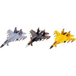 Gounaridis-DI Αεροπλάνα πολεμικά μεταλλικά με φώτα και ήχους 3 χρώματα σε κουτί (JA3116-1)