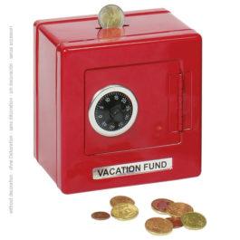 Goki Μεταλλικό Χρηματοκιβώτιο Με Συνδυασμό Κόκκινο (14019)