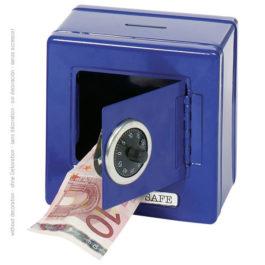 Goki Μεταλλικό Χρηματοκιβώτιο Με Συνδυασμό Μπλέ (14020)