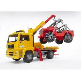 Bruder Φορτηγό MAN οδικής βοήθειας με γερανό & τζιπάκι (BR002750)