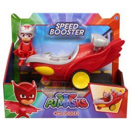 Giochi Preziosi Pj Masks – Πιτζαμοήρωες Οχήματα Speed Booster Με Φιγούρα Owl-Glitter (PJM60200)
