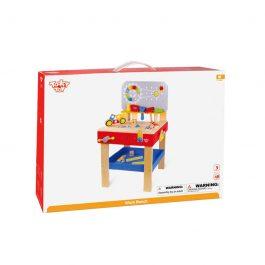Tooky Toy Ξύλινος Μεγάλος Πάγκος Εργαλείων (TKC466)