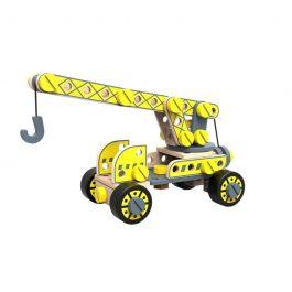 Tooky Toy Ξύλινη Κατασκευή Φορτηγό Με Γερανό (TKF036)