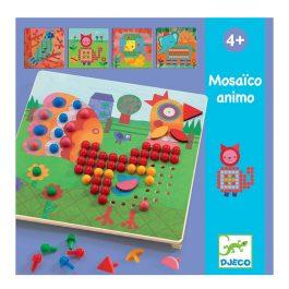Djeco Σύνθεση εικόνας με χρωματιστές καβύλιες ζωάκια (08137)