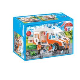 Playmobil Ασθενοφόρο με Διασώστες (70049)