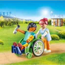 Playmobil Ασθενής με καροτσάκι (70193)