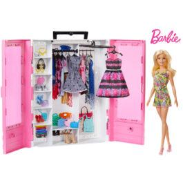 Mattel Barbie Νέα Ντουλάπα Της Barbie Με Κούκλα (GBK12)