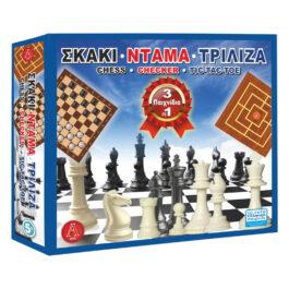 Argy Toys Επιτραπέζιο Σκάκι Ντάμα Τρίλιζα 2 Σε 1 (0106)