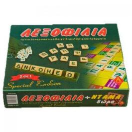 Argy Toys Επιτραπέζιο Λεξοφιλία Σπέσιαλ – Ντάμα 2 Σε 1 (0109)