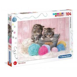 Clementoni Παζλ 104 Τεμάχια Supercolor Sweet Kittens (1210-27115)