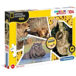 Clementoni Παζλ 104 Τεμάχια National Geographic Kids Wildlife Adventurer (1210-27143)