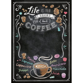 Clementoni Παζλ 1000 Τεμάχια Μαυροπίνακας Coffee Με Δυνατότητα Γραφής (1260-39466)