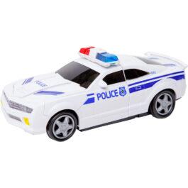 Gounaridis-DI Αστυνομικό Αυτοκίνητο Με Φώτα Και Ήχους Που Μετασχηματίζεται Σε Ρομποτ (66101)