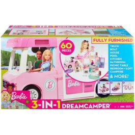 Barbie 3-Σε-1 Dreamcamper Τροχόσπιτο (GHL93)