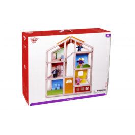 Tooky Toy Ξύλινο Κουκλόσπιτο Με Ανθρωπάκια & Αξεσουάρ (TKB867)