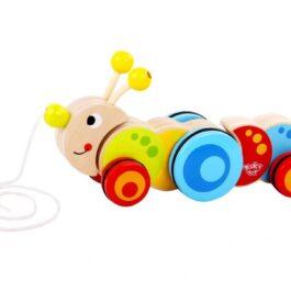 Tooky Toy Ξύλινη Κάμπια Συρόμενη (TKC419)