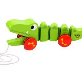 Tooky Toy Ξύλινος Μεγάλος Κροκόδειλος Συρόμενος (TKC421)