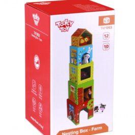 Tooky Toy Κύβοι Στοίβαξης Φάρμα (TKF053)