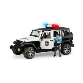 Bruder Τετρακίνητο Όχημα Wrangler Αστυνομίας Με Αστυνομικό (BR002526)