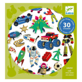 Djeco 30 Αυτοκόλλητα φουσκωτά Ρετρό παιχνίδια (09263)