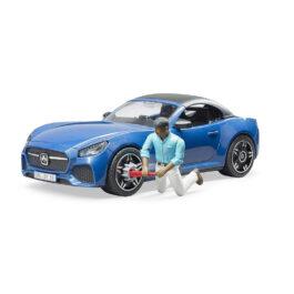 Bruder Αυτοκίνητο Roadster Μπλε Με Οδηγό (BR003481)