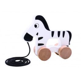 Tooky Toy Ξύλινη Ζέβρα Συρόμενη (TKC263)