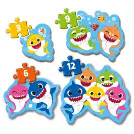 Clementoni Παζλ 3-6-9-12 Τεμάχια Baby Shark (1200-20828)