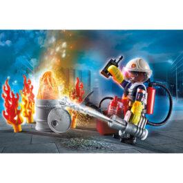 "Playmobil Gift Set ""Πυροσβέστης Με Αντλία Νερού"" (70291)"