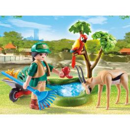 """Playmobil Gift Set """"Φροντιστής Ζωολογικού Κήπου Με Ζωάκια"""" (70295)"""
