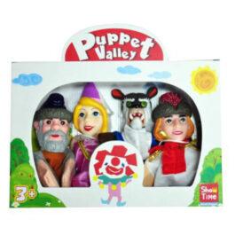 Argy Toys Μαριονέτες Σετ 4 Τεμάχια Πεντάμορφη Και Το Τέρας (7324-3)