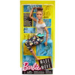 Barbie Αμέτρητες Κινήσεις – Μελαχρινή Με Κότσο Στα Μαλλία (FTG80-FTG82)
