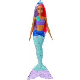 Barbie Dreamtopia Γοργόνα Κούκλα Με Μωβ Ουρά (GJK07-GJK09)