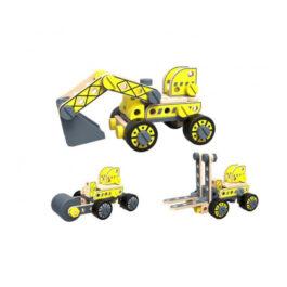 Tooky Toy Ξύλινη Κατασκευή Οχήματα Οικοδομής (TKF035)
