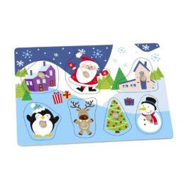 Tooky Toy Ξύλινο Πάζλ Χριστουγεννιάτικο (TY292)