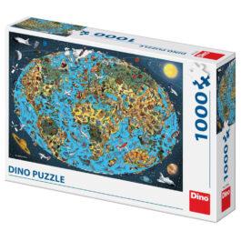 Dino Εικονογραφημένος Παγκόσμιος Χάρτης 1000 Τεμ (53281)