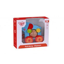 Tooky Toy Ξύλινος Συρόμενος Ελέφαντας (TKE006)