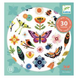 Djeco 30 Αυτοκόλλητα Με Στρας Λουλούδια – Εντομα (09269)