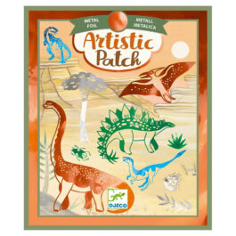Djeco Artistic Κολάζ Με Μεταλλικά Φύλλα Χρυσού Δεινόσαυροι (09463)