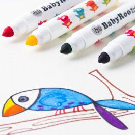Jarmelo Μαρκαδόροι Baby Roo Σετ 12 Χρώματα Washable (JA90480)