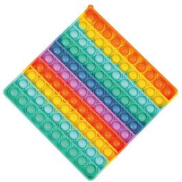 Gama Brands Pop It Bubbles Fidget Τετράγωνο Rainbow 20 X 20 εκ. (11290080)